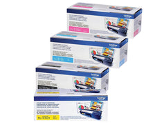 Brother TN310 Standard Yield Toner (4) Pack. Includes (1) TN310BK, (1) TN310C, (1) TN 310M, (1) TN310Y