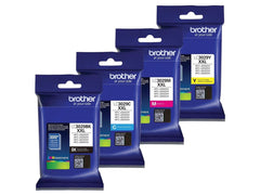 Brother LC3029 Extra High Yield Ink Cartridge Set. Includes (1) LC3029BK, (1) LC3029C, (1) LC3029M, (1) LC3029Y