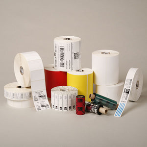 "Zebra Thermal Transfer Label, Paper (4"" x 5"") Z-Select 4000T (1"" Core) (570/Roll) (6 Rolls/Ctn) (Top Coated Paper) (Perforated) (5"" Outer) (Permanent Acrylic Adhesive) (White)"