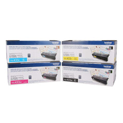 Brother TN-433 BK/C/M/Y High Yield Color Toner Cartridge 4-Pack