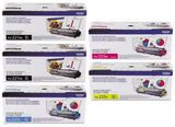 Genuine Brother (2) TN221BK, TN225C, TN225M, TN225Y Color Toner 5-Pack