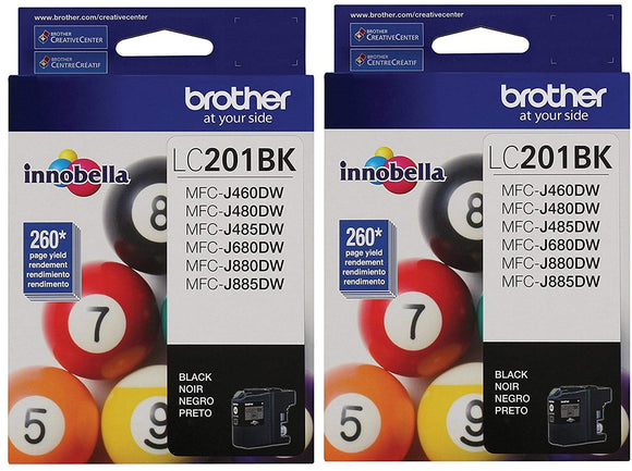 Brother LC201BK Ink Cartridge-2 pack