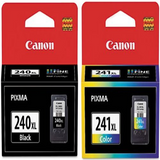Genuine Canon PG-240XL/CL-241XL Color Ink Cartridge 2-Pack (OEM 5206B001, 5208B001)