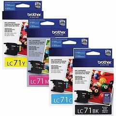 Brother LC71 Standard Yield Ink Cartridge BK/C/M/Y combo