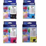 Genuine Brother LC203 (LC-203) Color (Bk/C/M/Y) Ink Cartridge 4-Pack
