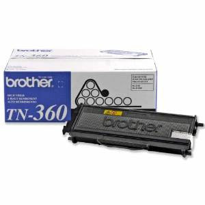 Brother TN360 Original Black High Yield Toner Cartridge (2,600 Yield)