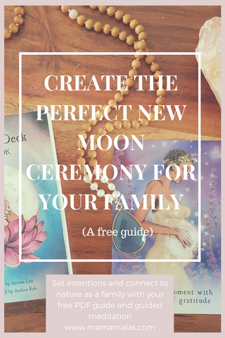 A New Moon Ceremony is the perfect way to set your intentions and connect with the cycles of nature. Check out our free downloadable guide to creating a new moon ceremony for the entire family and a bonus guided new moon meditation.