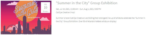 Cateye creative summer in the city group show