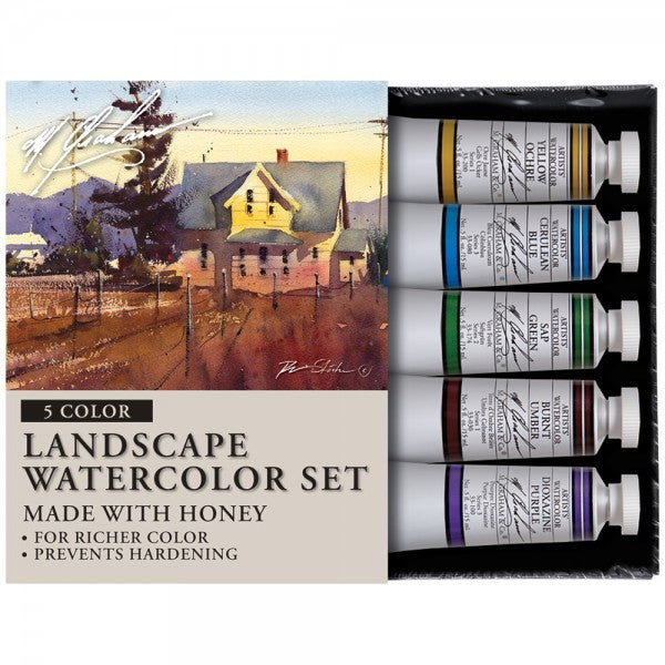 M. Graham Watercolor Landscape 5x15ml Set