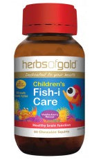 Herbs of Gold CHILDREN FISH-I CARE 60CC - Natural Food Barn
