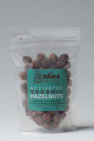 2DIE4 ACTIVATED HAZELNUTS 120GM - Natural Food Barn