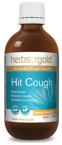 Herbs of Gold HIT COUGH 100ML NEW - Natural Food Barn