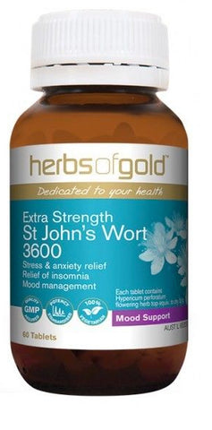 Herbs of Gold EXTRA STRENGTH ST JOHNS WORT 30T - Natural Food Barn