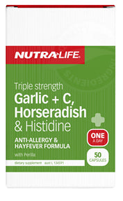 NUTRALIFE TRIPLE ST GARLIC C & HRADISH 100C - Natural Food Barn
