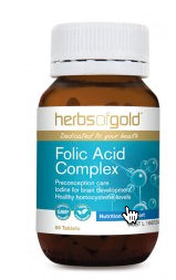 Herbs of Gold FOLIC ACID COMPLEX 60T - Natural Food Barn