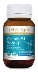 Herbs of Gold VITAMIN B1 100MG 100T - Natural Food Barn