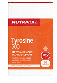 NUTRALIFE TYROSINE 500MG 50C DELETED - Natural Food Barn