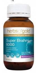 Herbs of Gold SUPER BRAHMI 6000 60T - Natural Food Barn