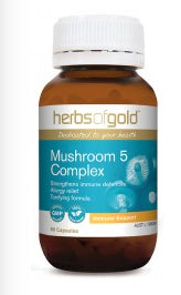 Herbs of Gold MUSHROOM 5 COMPLEX 60C - Natural Food Barn