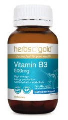 Herbs of Gold VITAMIN B3 500MG 60T - Natural Food Barn
