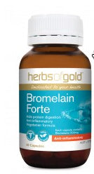 Herbs of Gold BROMELAIN FORTE 60C - Natural Food Barn