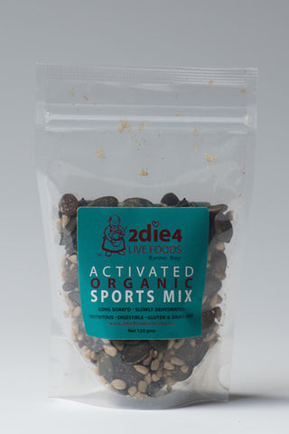 2DIE4 ACTIVATED SPORTS MIX 120GM - Natural Food Barn