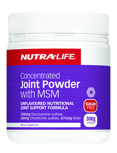 NUTRALIFE CONC JOINT FOOD w MSM 300g - Natural Food Barn