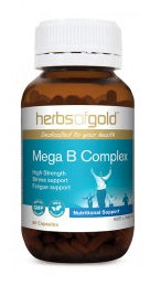 Herbs of Gold MEGA B COMPLEX 60C - Natural Food Barn