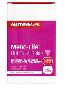 NUTRALIFE MENO-LIFE HOT FLUSH 30T - Natural Food Barn