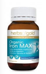 Herbs of Gold ORGANIC IRON MAX 30C - Natural Food Barn