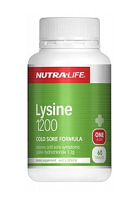 NUTRALIFE L-LYSINE 1200MG 60T - Natural Food Barn