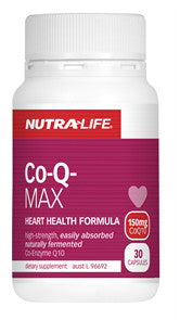 NUTRALIFE CO-ENZYME Q10 MAX 150MG 60C - Natural Food Barn