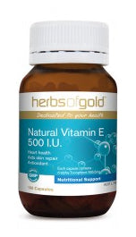 Herbs of Gold NATURAL VITAMIN E 500IU 100C - Natural Food Barn