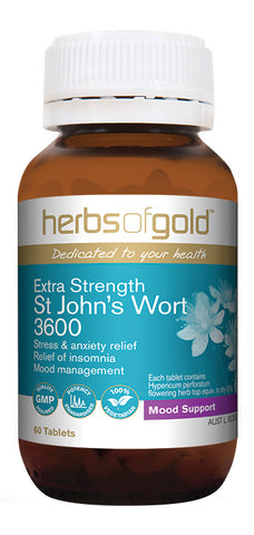 Herbs of Gold EXTRA STRENGTH ST JOHNS WORT 60T - Natural Food Barn