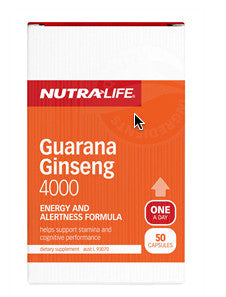 NUTRALIFE GUARANA GINSENG 4000 50C - Natural Food Barn