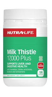 NUTRALIFE MILK THISTLE 17000 120C - Natural Food Barn