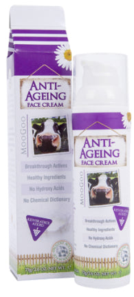 MOOGOO ANTI AGE FACE CREAM 75G - Natural Food Barn