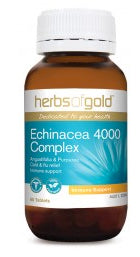 Herbs of Gold ECHINACEA 4000 COMPLEX 30T - Natural Food Barn