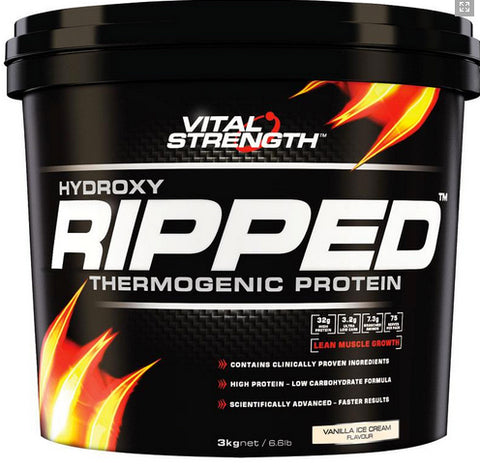 VITAL STRENGTH HYDROXY RIPPED 3KG VANILLA - Natural Food Barn