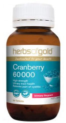 Herbs of Gold CRANBERRY 60,000MG 50T - Natural Food Barn
