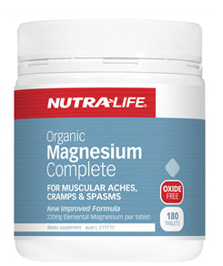 NUTRALIFE ORGANIC MAGNESIUM COMP 120T - Natural Food Barn
