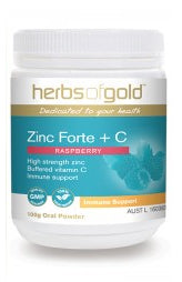 Herbs of Gold ZINC FORTE +C 100G - Natural Food Barn