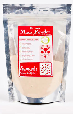 SUNGODS EXTREME MACA POWDER 500G - Natural Food Barn