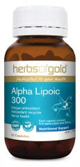 Herbs of Gold ALPHA LIPOIC 300 60C - Natural Food Barn