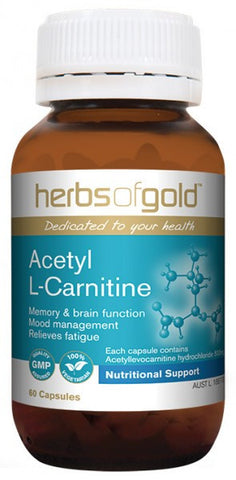 Herbs of Gold Acetyl L-Carnitine 120C - Natural Food Barn