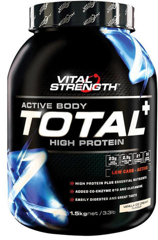 VITAL STRENGTH TOTAL PROTEIN STRAWBERRY 1.5KG - Natural Food Barn