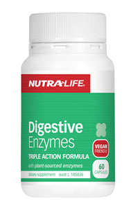 NUTRALIFE DIGESTIVE ENZYMES 60C - Natural Food Barn