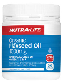 NUTRALIFE FLAXSEED OIL 200C - Natural Food Barn