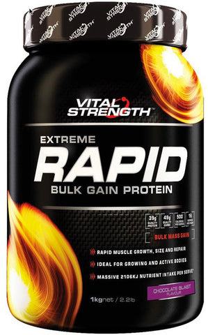 VITAL STRENGTH RAPID WEIGHT GAINER 1KG CHOCOLATE - Natural Food Barn