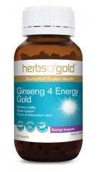 Herbs of Gold GINSENG 4 ENERGY GOLD 30T - Natural Food Barn